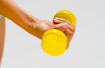 Many exercisers refer to small dumbbells as hand weights.