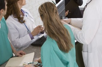Health care managers meet frequently with medical staffers.