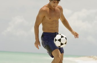 Kicking a soccer ball in sand burns more calories than on other surfaces.