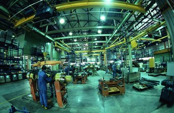 Entry-level production workers perform various tasks in manufacturing environments.