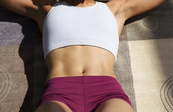 Do crunches to help keep your stomach flat.