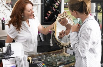 Jewelry salespeople might earn a commission as well as a salary.