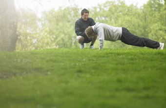 Exercises like pushups can be done anywhere, even at the park.