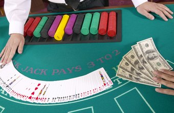 Card dealers collect bets for games such as blackjack and poker.