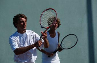 Men and women can team up to play doubles.