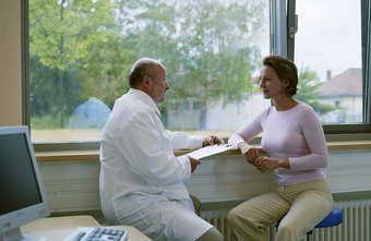 A physician will review your medical history during an exam.
