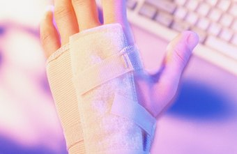 Wearing a splint allows you to rest an injured wrist.