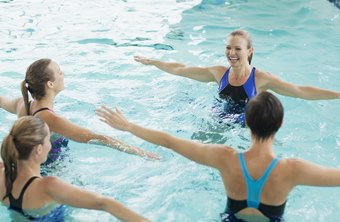 Aqua aerobics helps reduce belly fat.