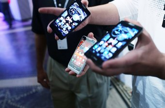 The Droid line includes many different styles of phone.
