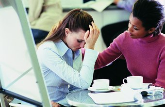 Talking to a friend can help you deal with a difficult colleague.