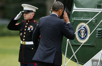 The president of the United States commands the Army, Air force, Navy and Marines.