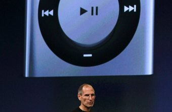The power switch of the fourth generation iPod shuffle is located on top of the device.