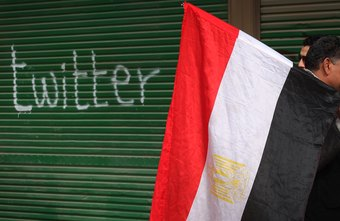 Egyptian anti-government protesters used social networking websites to spread information.
