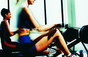 Burn calories on cardio machines, such as indoor rowing machines.