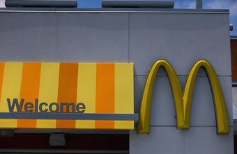 McDonald's golden arches logo is a key part of the brand.