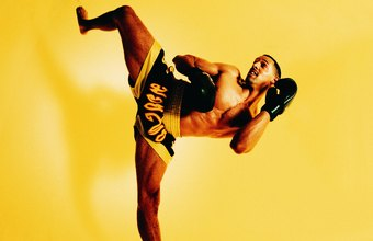 Kickboxing jumps and other moves work to strengthen bone density.