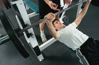 Working with a spotter can help prevent injuries when using incline, decline or flat benches.