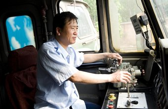 Locomotive engineers control and direct trains.