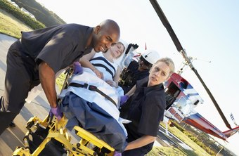 Paramedics transport patients by ground or air.