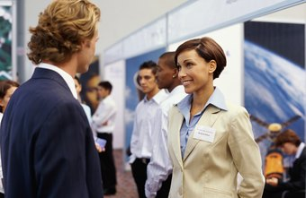 Greet job fair attendees with information about your company.