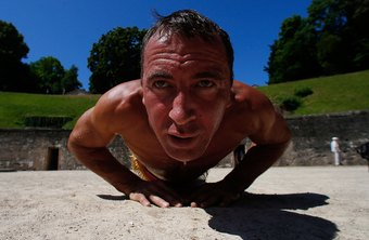 Triangle pushups are challenging.