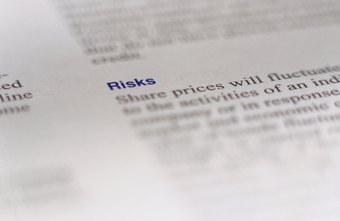 An annual business report discloses risks to potential and current shareholders.