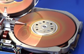 Hard drives store data on disc-shaped magnetic platters.