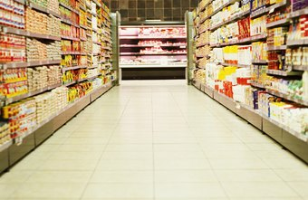 Grocery stores sell a variety of food and non-food products.