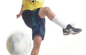 Soccer requires skilled footwork technique.