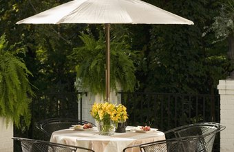 Metal patio furniture can provide a stylish focal point for outdoor entertaining.