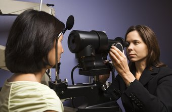 Optometric assistants can help with eye exams.