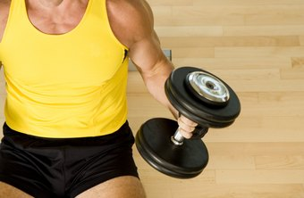 Curls isolate the biceps muscles of the upper arms.
