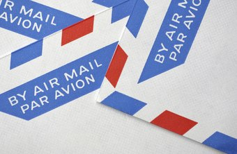 International mail typically travels by air to its destination.
