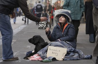 Working with homeless people provides intangible benefits but relatively low wages.