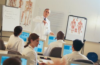 Medical students receive classroom instruction in addition to clinical experience.