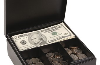 A locked cash box helps keep a petty cash fund secure.