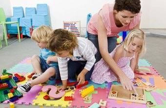 Preschool teachers help children develop coordination.