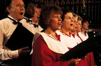 Professional choir singers perform classical pieces.