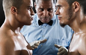A referee may stop a cage fight if one of the fighters is injured.