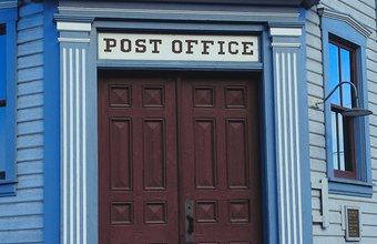 A postmaster runs a post office.