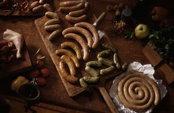 Your menu should offer different varieties of German sausages.