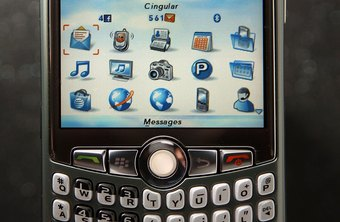 The expanded home screen displays all of the applications on your BlackBerry.