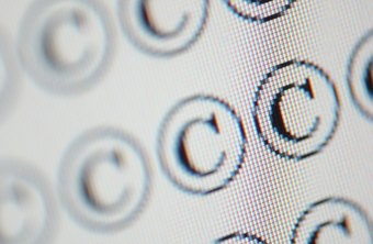 Copyright protection is sometimes noted with a symbol containing a C in a circle.