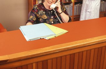 A dental receptionist schedules appointments.