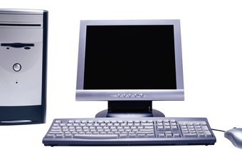 A basic computer system is made up of a tower, monitor, keyboard and mouse.