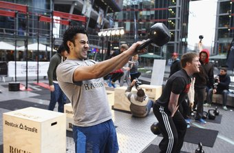 Kettlebell swings work almost all major muscles in your body.