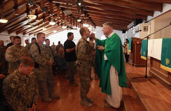 Army chaplains provide religious services for members of the military.