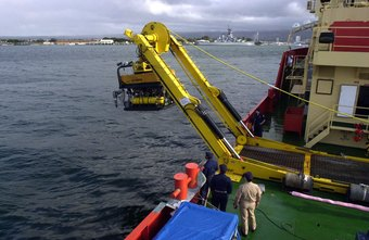 ROV pilot-technicians operate unmanned submarines used for exploration and underwater repairs.