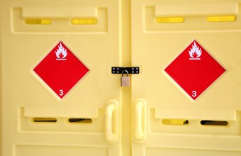 Many hazardous materials have strict storage requirements.