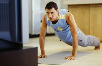 Pushups are an effective pec exercise you can perform at home.